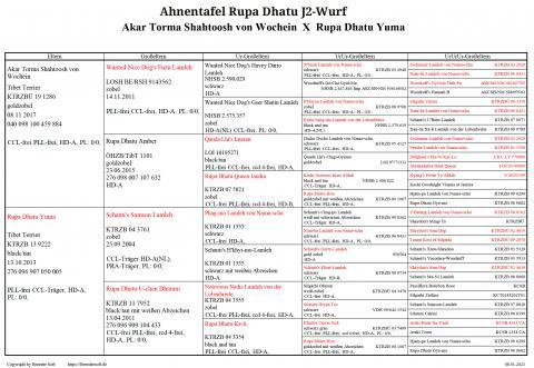 Ahnentafel Rupa Dhatu J-Wurf